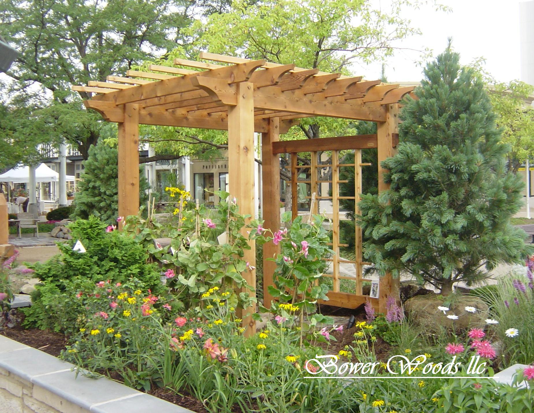 how to build a simple wooden arbor