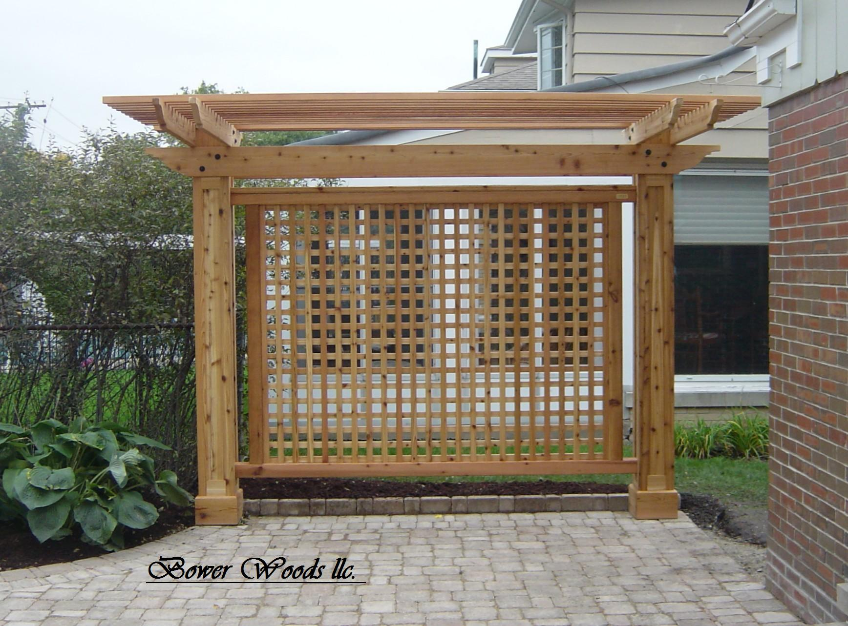 Bower woods llc custom garden structures trellis for Custom backyard designs