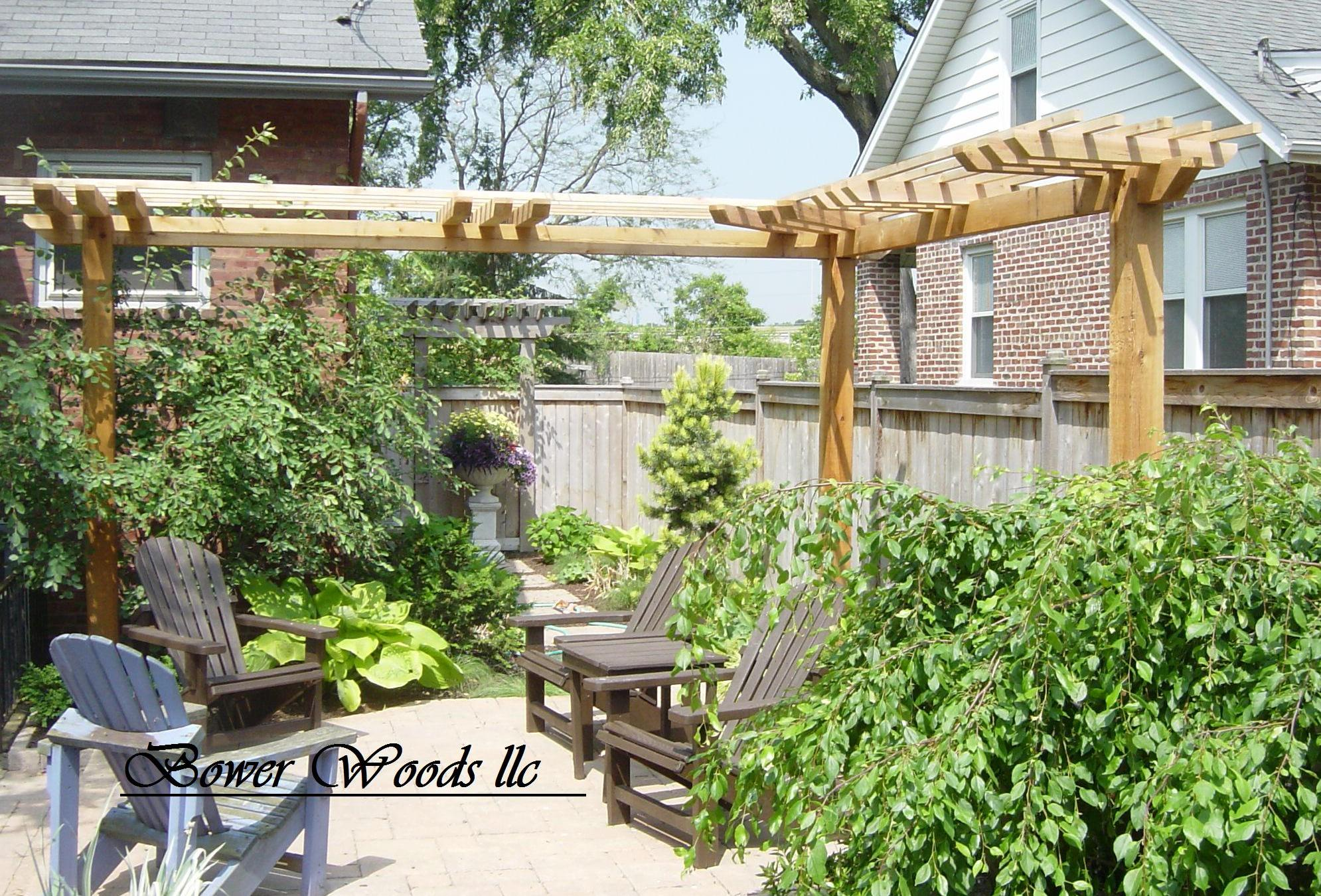 bower woods llc custom garden structures rustic pergolas