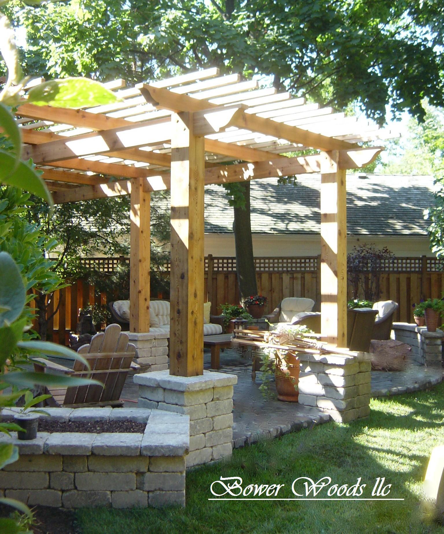 Pergola Landscaping Ideas: Bower Woods Llc. Custom Garden Structures, Rustic Pergolas