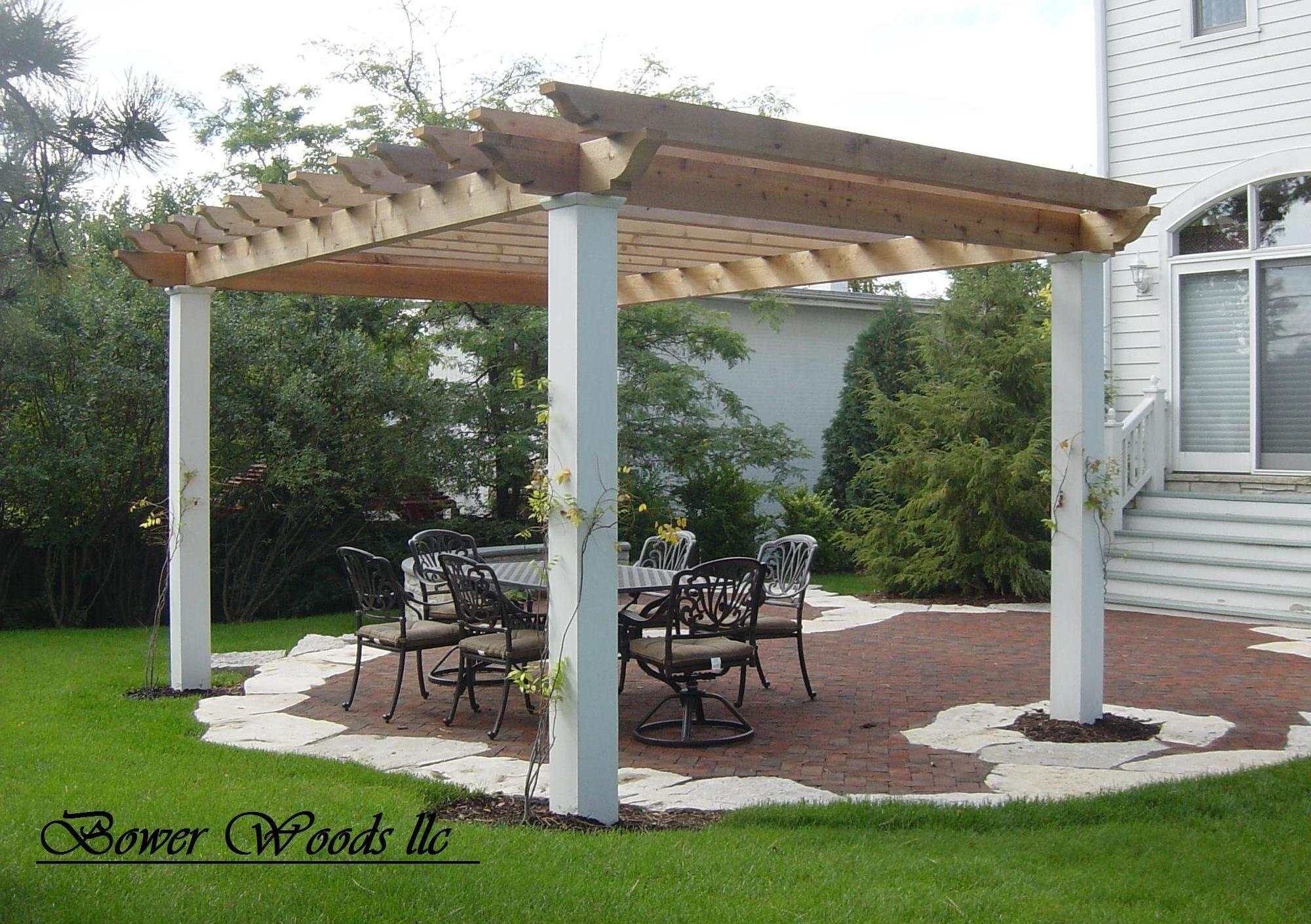 bower woods llc custom garden structures rustic pergolas. Black Bedroom Furniture Sets. Home Design Ideas