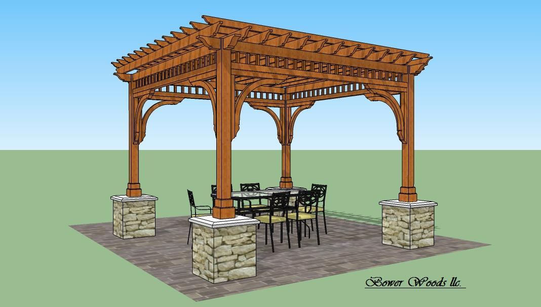 Bower Woods llc. Custom Garden Structures, Santa Fe Pergola