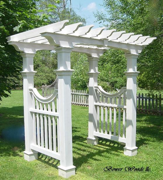 Bower Woods llc Custom Garden Structures Garden Arbor